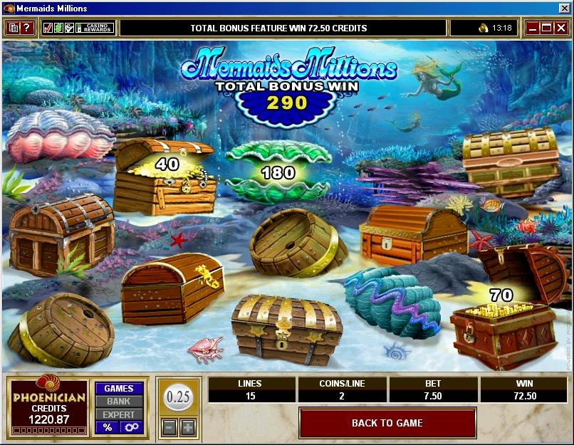 Mermaids Millions Treasure Chest Bonus Phoenician Online Casino