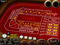 Click to play Craps Online